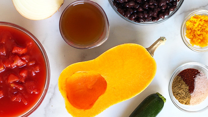 Butternut Squash Chili Recipe Ingredients