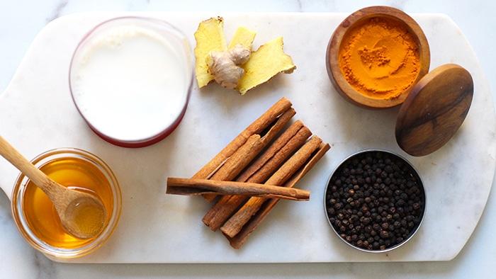 Ingredients Golden Milk Latte