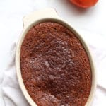 Just Baked Persimmon Pudding