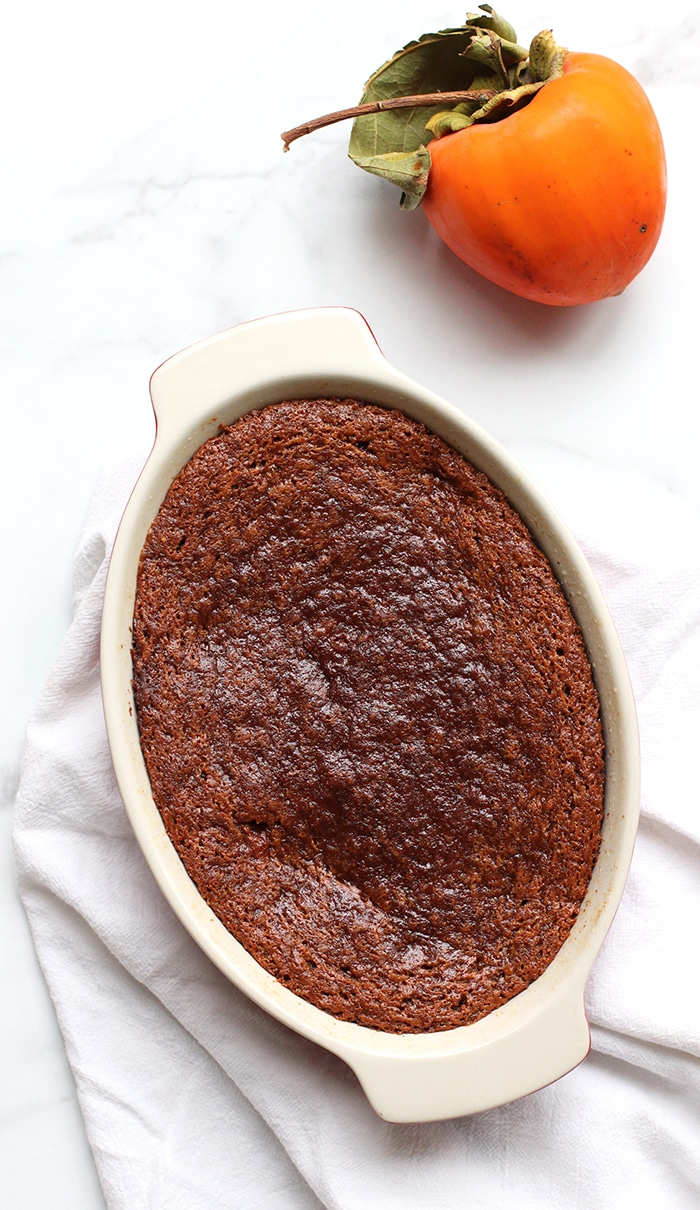 persimmon pudding recipe just out of oven