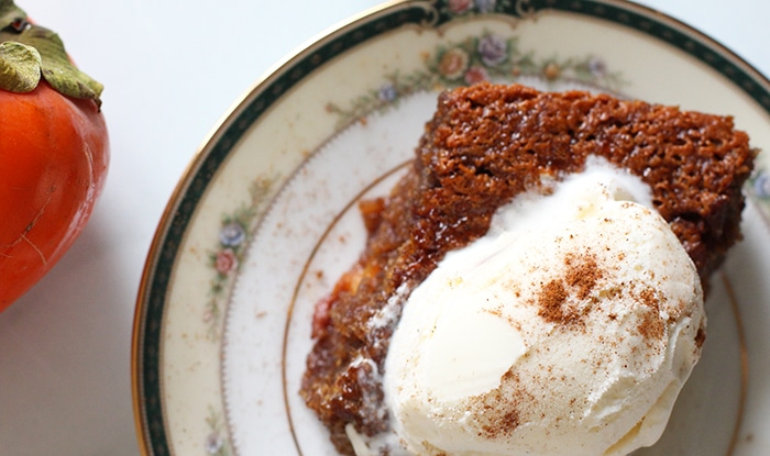 persimmon pudding recipe ready to eat