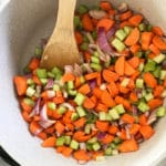 simple winter lentil vegetable soup