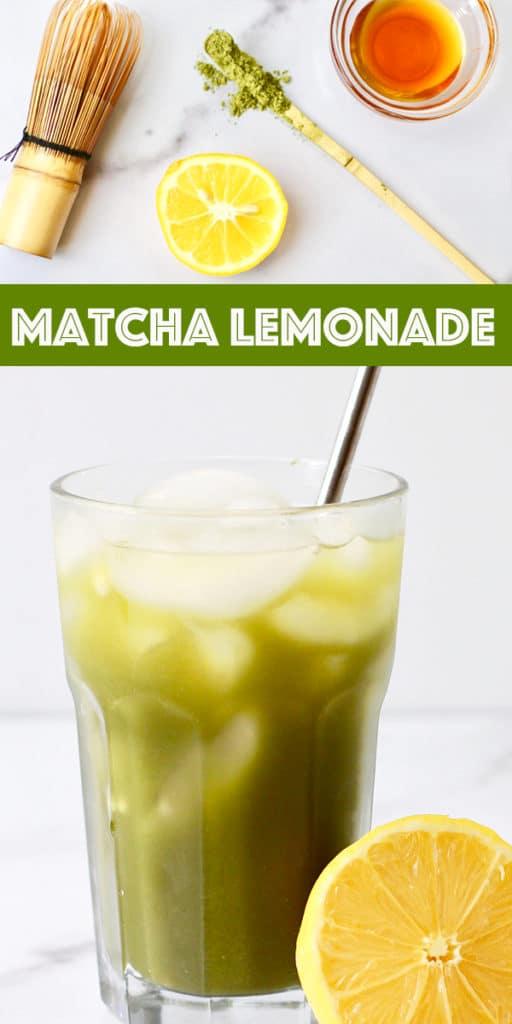 Matcha Lemonade Recipe Pin Image