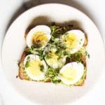 Avocado Egg Toast on plate