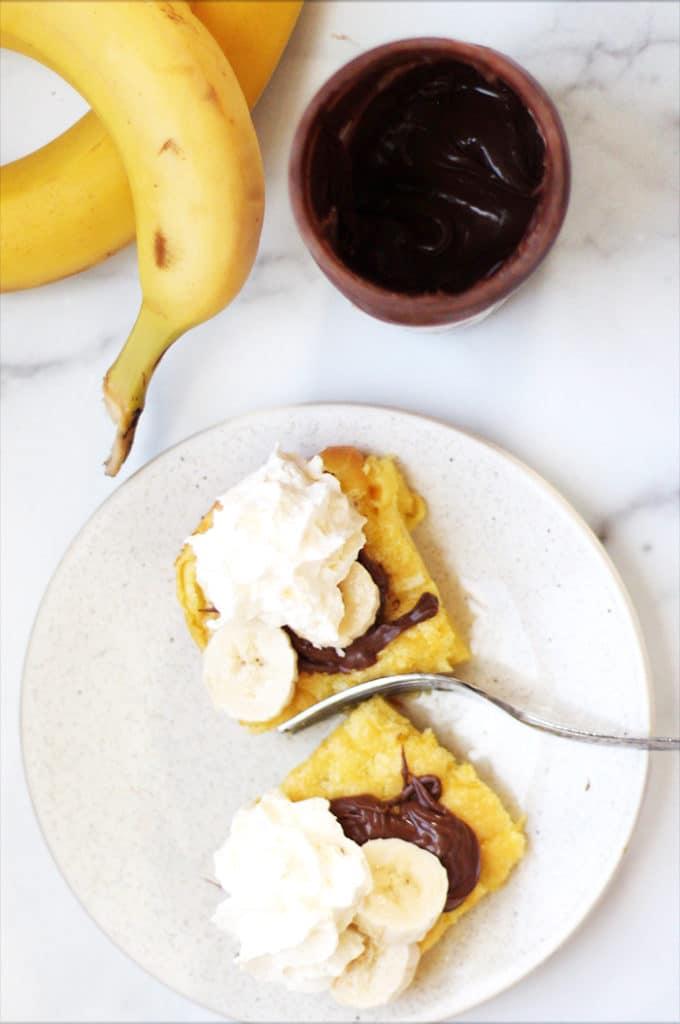 Banana Nutella German Pancakes