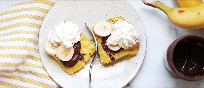 Nutella Banana German Pancakes