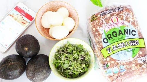Avocado egg toast Ingredients