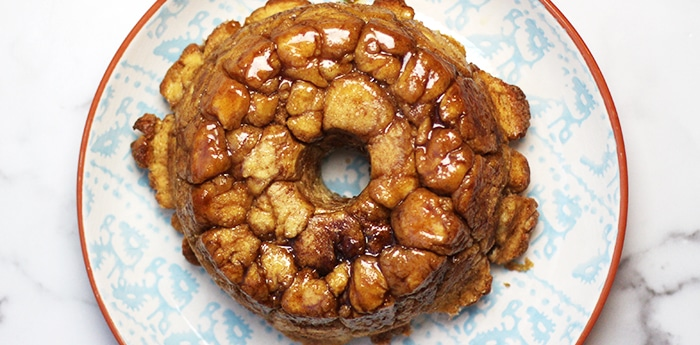 monkey bread recipe on serving platter
