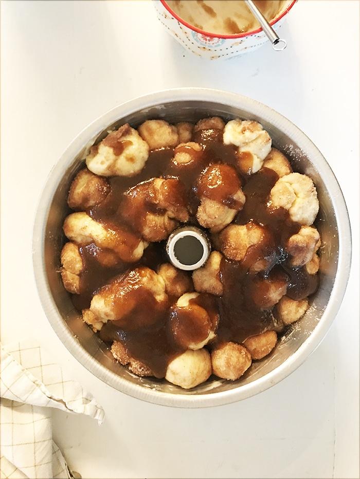 Monkey Bread Recipe with Brown Sugar Glaze