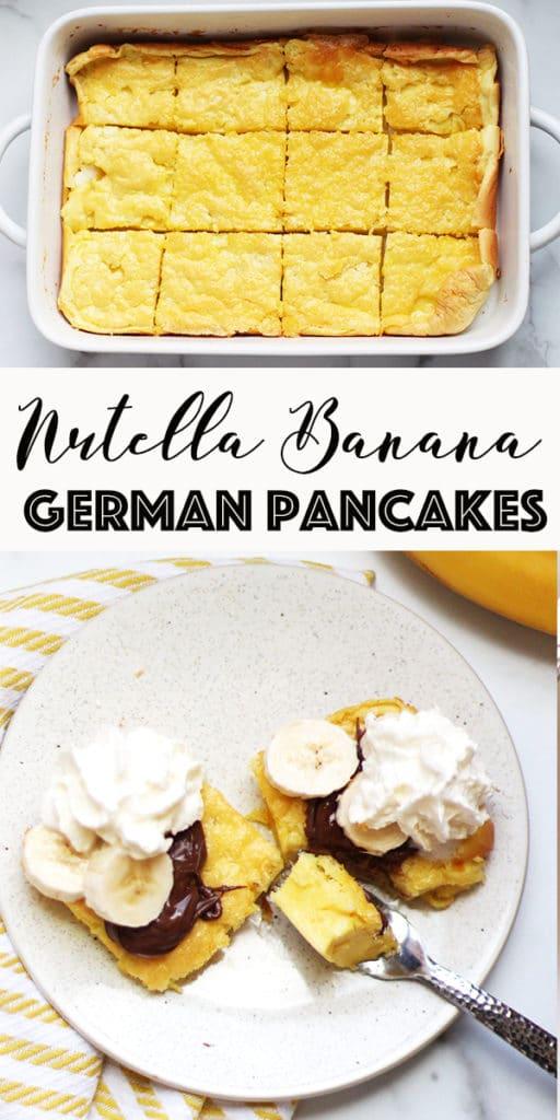 Nutella Banana German Pancakes Pin Image
