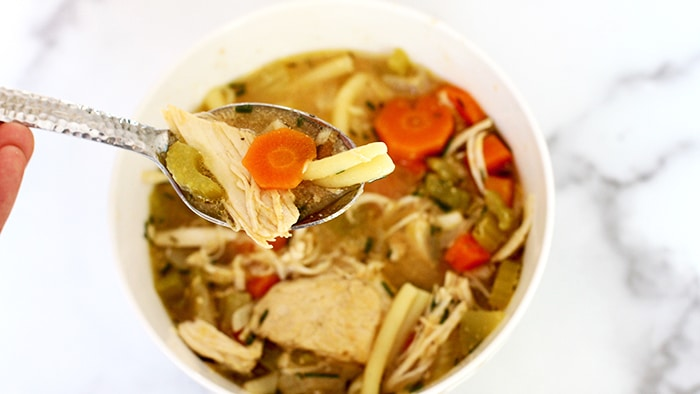 My fave slow cooker chicken noodle soup