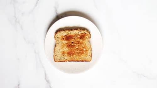 Avocado egg toast step 1