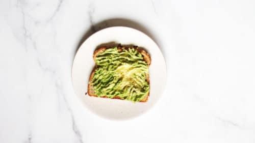 Avocado egg toast step 2