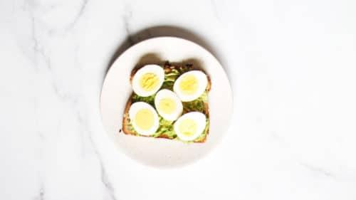 Avocado egg toast step 3