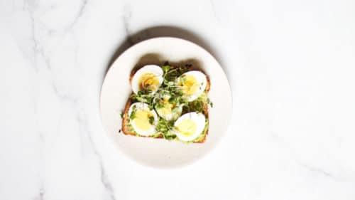 Avocado egg toast step 4