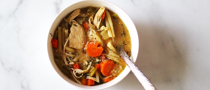 slow cooker chicken noodle soup featured image