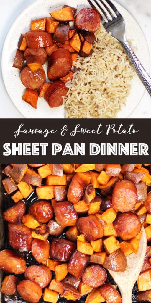 Sausage and Sweet Potato Sheet Pan Dinner Pin