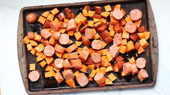 Sweet potato sheet pan dinner