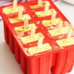 golden milk coconut popsicle recipe in molds