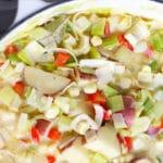easy corn leek chowder recipe