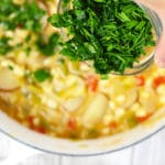 corn leek chowder with fresh herbs