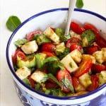 easy avocado caprese salad with basil