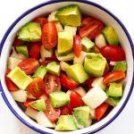 easy avocado Caprese salad recipe - add avocado