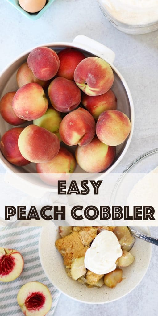 Easy Peach Cobbler Pin image