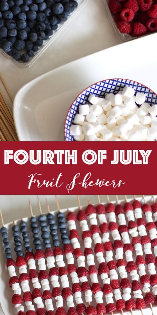 Fourth of July Fruit Skewers on Rainbow Delicious