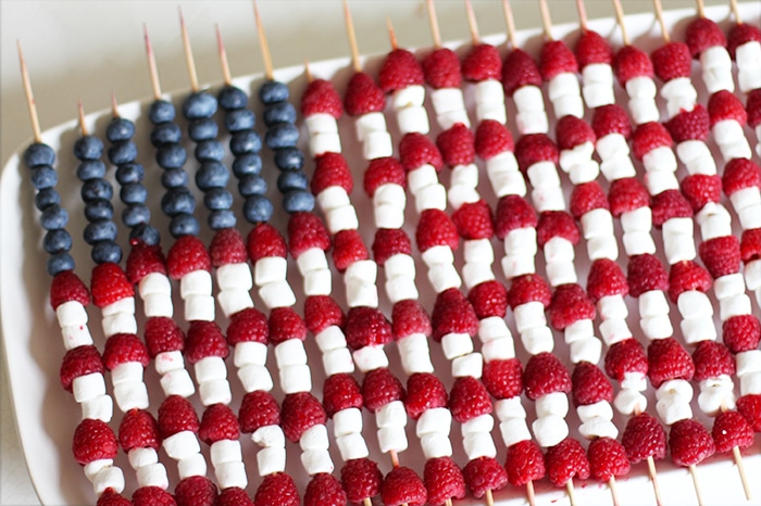 Fourth of July Fruit Skewer