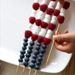 Making Fourth of July Fruit Skewers