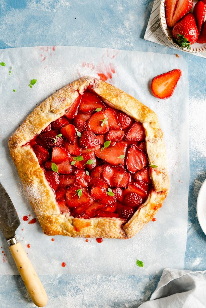 Strawberry Recipes Classic Strawberry Galette from Anna Banana