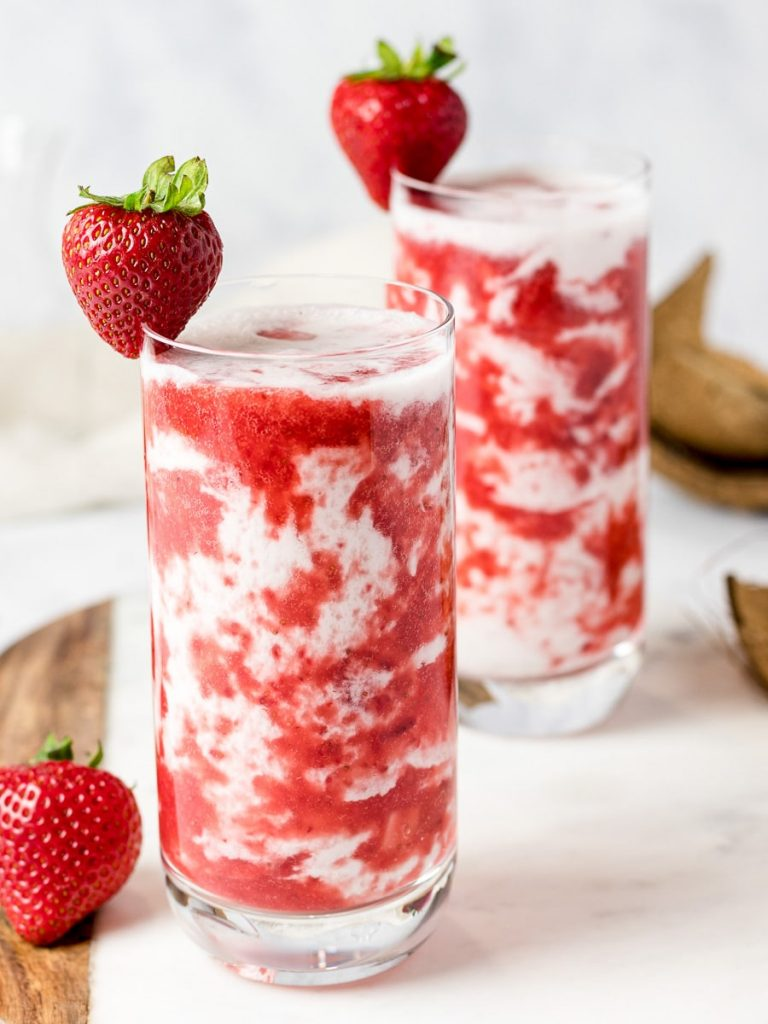 Strawberry Recipes Homemade Korean Strawberry Milk from Drive Me Hungry