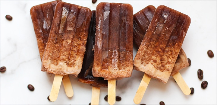 DIY coffee banana popsicles