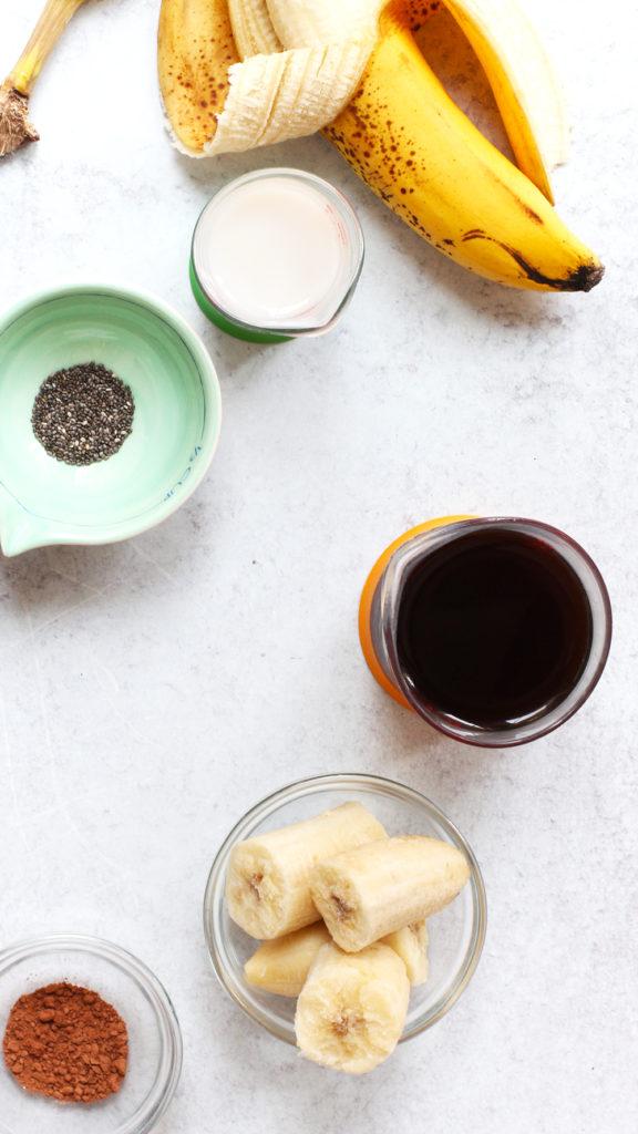 rainbow delicious cold brew coffee banana smoothie
