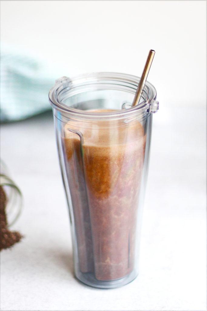 delicious cold brew coffee banana smoothie