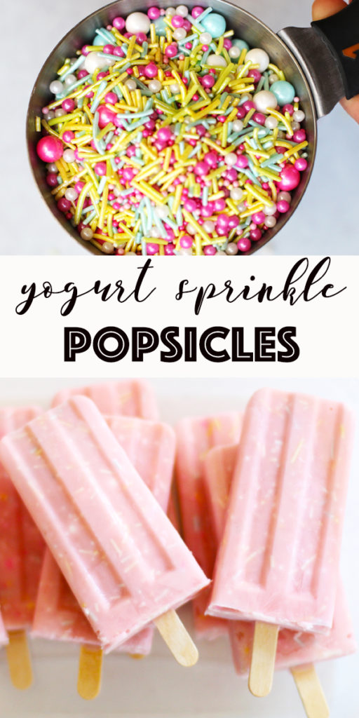 pin image frozen yogurt popsicle recipe with sprinkles