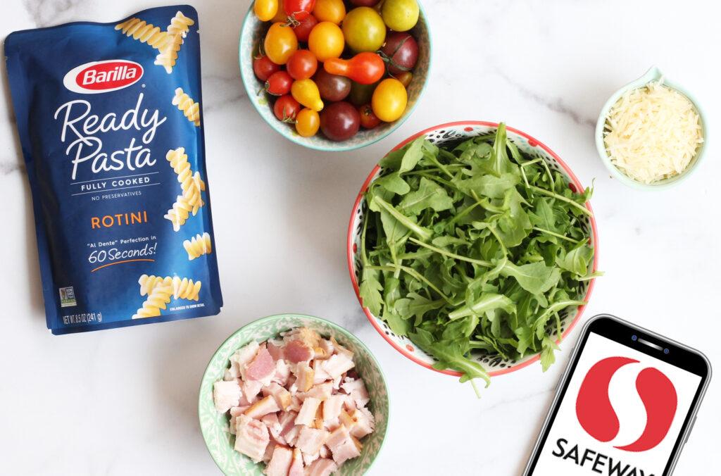 BLT Pasta with Arugula Ingredients 3
