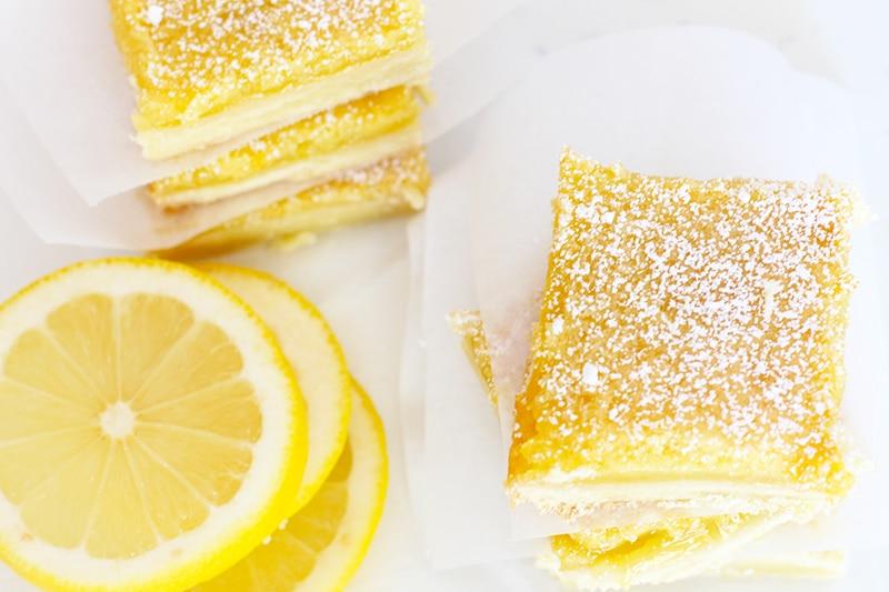 Classic Lemon Bars on Rainbow Delicious