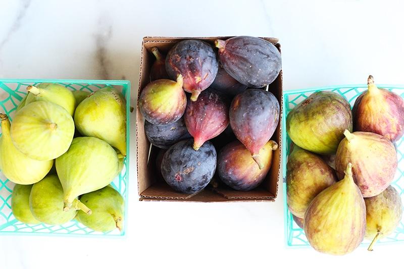 Figs for fig burrata caprese