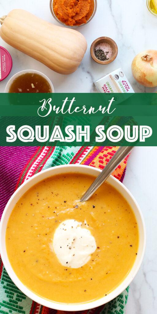 Ina Garten Butternut Squash Soup Pin Image