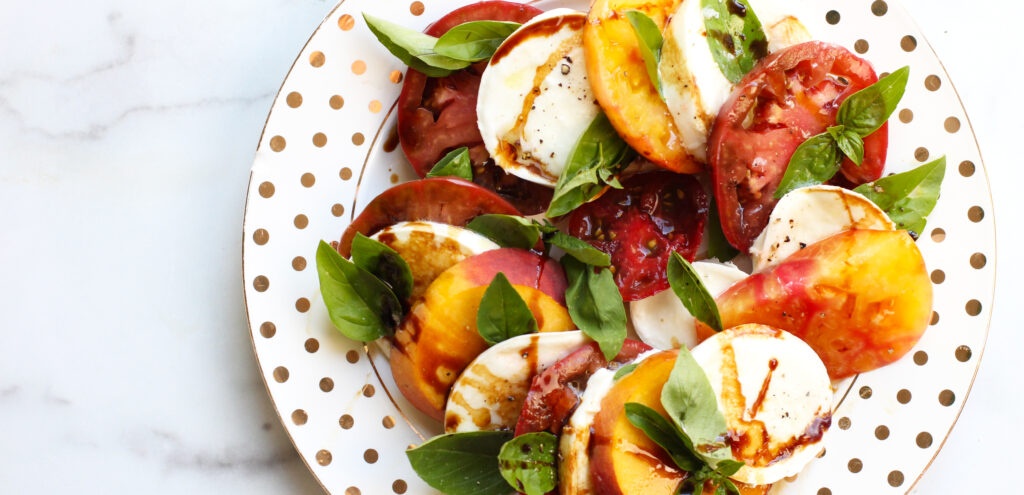 Featured Image for Peach Caprese Recipe