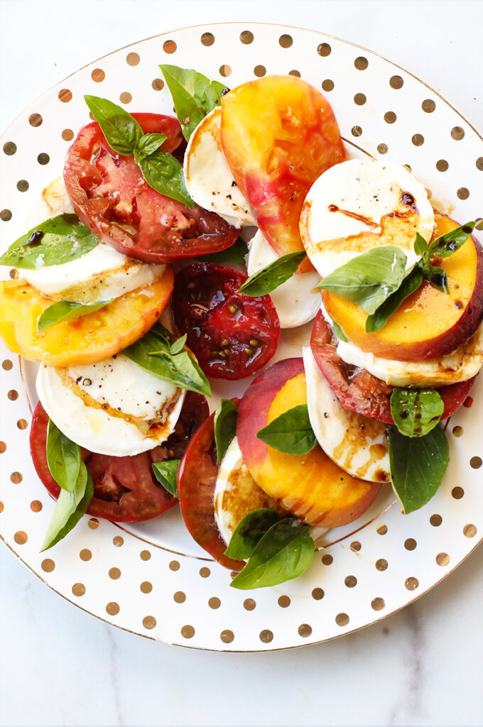 Peach Caprese Rainbow Delicious without Salt Block