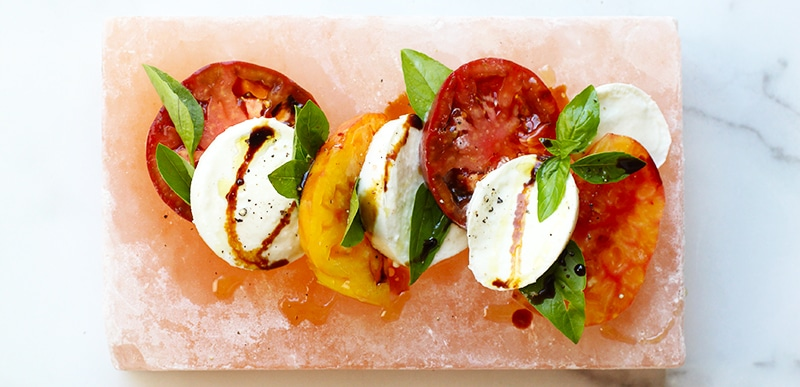 salt Block Caprese Rainbow Delicious
