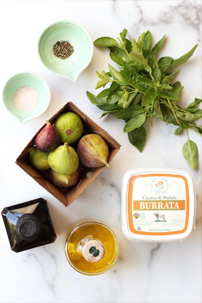 ingredients fig burrata caprese