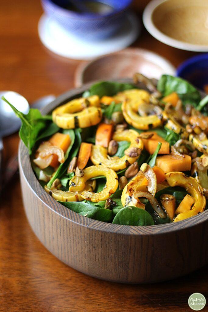 delicata persimmon salad