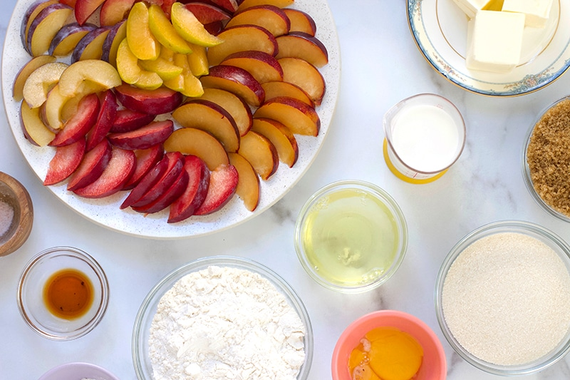Ingredients for Plum Upside Down Cake