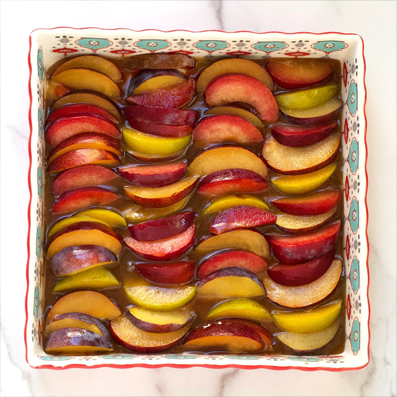 Plums for Upside Down Plum Cake