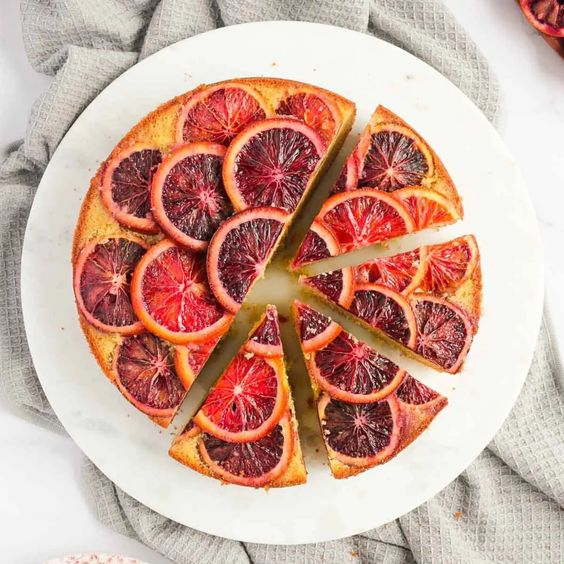 Upside Down Cakes Blood Orange