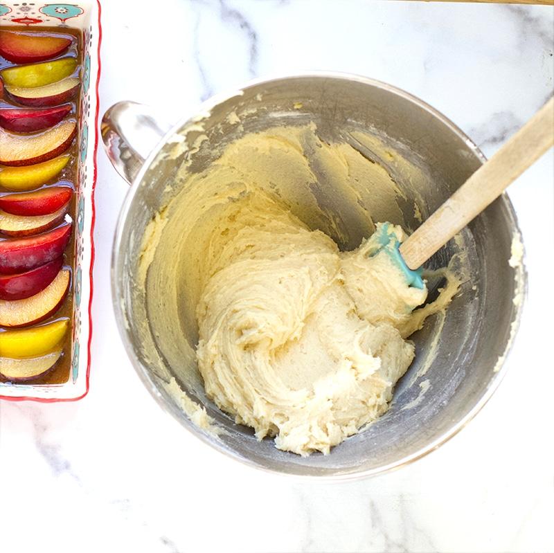 batter for plum upside down cake